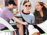 EXCLUSIVE: Shia LaBeouf gives his bulldog Brando a taste of gourmet people food while enjoying a leisurely lunch with his fiancÈ Mia Goth and his mother under his dinning table  the table while eating lunch with fiancÈ and mom Shayna Saide at Lemonade cafe in Studio City Sunday.\n\nPictured: Shia LaBeouf gives his bulldog Brando a taste of gourmet people food while enjoying a leisurely lunch with his fiancÈ Mia Goth and his mother under his dinning table  the table while eating lunch with fiancÈ and mom Shayna Saide at Lemonade cafe in Studio City Sunday.\nRef: SPL1256780  030416   EXCLUSIVE\nPicture by: REELPIX/Splash News\n\nSplash News and Pictures\nLos Angeles: 310-821-2666\nNew York: 212-619-2666\nLondon: 870-934-2666\nphotodesk@splashnews.com\n