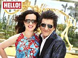 """EMBARGOED TO 0001 MONDAY APRIL 4 THIS PICTURE MUST ONLY BE USED IN CONJUNCTION WITH THE FRONT COVER OF THIS WEEKS HELLO! MAGAZINE. NO SALES NO ARCHIVE. EDITORIAL USE ONLY. ONE USE ONLY  Undated handout photo issued by Hello! of Ronnie Wood with his theatre producer wife Sally Humphreys as they appear in this week's edition of Hello! Magazine. PRESS ASSOCIATION Photo. Issue date: Monday April 4, 2016. Wood has said the other members of The Rolling Stones are """"thrilled"""" about his impending fatherhood. See PA story SHOWBIZ Wood. Photo credit should read: Hello!/PA Wire NOTE TO EDITORS: This handout photo may only be used in for editorial reporting purposes for the contemporaneous illustration of events, things or the people in the image or facts mentioned in the caption. Reuse of the picture may require further permission from the copyright holder."""