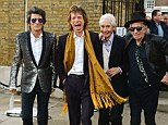 LONDON, ENGLAND - APRIL 04:  (L to R) Ronnie Wood, Mick Jagger, Charlie Watts and Keith Richards of The Rolling Stones attend a private view of 'The Rolling Stones: Exhibitionism' at The Saatchi Gallery on April 4, 2016 in London, England.  (Photo by David M. Benett/Dave Benett/Getty Images)
