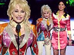 LAS VEGAS, NEVADA - APRIL 03:  Honoree Dolly Parton (L) and recording artist Katy Perry perform onstage during the 51st Academy of Country Music Awards at MGM Grand Garden Arena on April 3, 2016 in Las Vegas, Nevada.  (Photo by Ethan Miller/Getty Images)