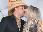 Mandatory Credit: Photo by Jim Smeal/BEI/Shutterstock (5622960am) Jason Aldean and Brittany Kerr Academy of Country Music Awards, Arrivals, Las Vegas, America - 03 Apr 2016
