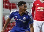MANCHESTER, ENGLAND - APRIL 04:  Kasey Palmer of Chelsea U21s celebrates scoring their first goal during the U21 Premier League match between Manchester United U21s and Chelsea U21s at Old Trafford on April 4, 2016 in Manchester, England.  (Photo by Matthew Peters/Man Utd via Getty Images)