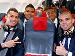Cristiano Ronaldo sat in one of the front seats for two and a half hour journey alongside compatriot Pepe
