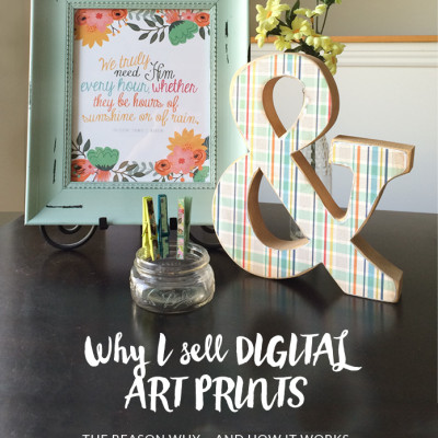 The Reason Why I Sell Digital Art Prints