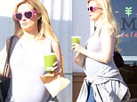 Holly Madison eats healthy for two at M Cafe in Los Angeles, CA. In January 2016, Madison announced that she was expecting a second child, due in August with hubby Pasquale Rotella. Monday, April 4, 2016.X17online.com\\nOK FOR WEB SITE AT 40PP OR £200 THE SET\\nMAGAZINES NORMAL FEES\\nAny queries please call Lynne or Gary on office 0034 966 713 949 \\nGary mobile 0034 686 421 720 \\nLynne mobile 0034 611 100 011