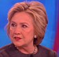 Hillary Clinton on the View