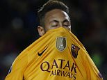 Football Soccer - FC Barcelona v Atletico Madrid - UEFA Champions League Quarter Final First Leg - The Nou Camp, Barcelona, Spain - 5/4/16  Barcelona's Neymar looks dejected after a missed chance  Reuters / Sergio Perez  Livepic  EDITORIAL USE ONLY.