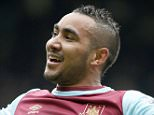 Editorial use only. No merchandising. For Football images FA and Premier League restrictions apply inc. no internet/mobile usage without FAPL license - for details contact Football Dataco Mandatory Credit: Photo by Jason Mitchell/IPS/REX/Shutterstock (5622700k) Dimitri Payet of West Ham United celebrates after making it 2-1 West Ham United v Crystal Palace, Barclays Premier League, Boleyn Ground, London, Britain