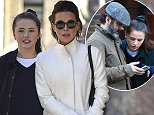NEW YORK, NEW YORK - APRIL 05:  (EXCLUSIVE COVERAGE) Kate Beckinsale, Lily Mo Sheen and Michael Sheen are seen in Soho  on April 5, 2016 in New York City.  (Photo by Alo Ceballos/GC Images)