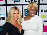WATCH WHAT HAPPENS LIVE -- Pictured (l-r): Kim Zolciak and NeNe Leakes -- (Photo by: Charles Sykes/Bravo/NBCU Photo Bank via Getty Images)