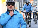 Russell Crowe goes biking on the West Side Highway bike path in New York City, heading to SNL, he was biking from the greenwich hotel to the NBC studios in Rockefeller Center\n\nPictured: Russell Crowe\nRef: SPL1258635  060416  \nPicture by: Felipe Ramales / Splash News\n\nSplash News and Pictures\nLos Angeles: 310-821-2666\nNew York: 212-619-2666\nLondon: 870-934-2666\nphotodesk@splashnews.com\n