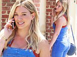 Beverly Hills, CA - Hilary Duff handles her errands in denim overalls in Beverly Hills. The blonde actress took a call on her cell as she walked to a local business with a pretty smile in her denim overalls.\n \nAKM-GSI  April 5, 2016\nTo License These Photos, Please Contact :\nSteve Ginsburg\n(310) 505-8447\n(323) 423-9397\nsteve@akmgsi.com\nsales@akmgsi.com\nor\nMaria Buda\n(917) 242-1505\nmbuda@akmgsi.com\nginsburgspalyinc@gmail.com