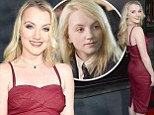 It has been almost five years since the final Harry Potter movie debuted in cinemas. But Evanna Lynch, who found fame portraying lovable and quirky Luna Lovegood, certainly hasn't forgotten her roots. The 24-year-old cast her magic over the red carpet at the opening of The Wizarding World Of Harry Potter at Universal Studios Hollywood on Monday. Lady Lovegood in red: Evanna Lynch cast her magic at the opening of The Wizarding World Of Harry Potter at Universal Studios Hollywood on Monday +10 Lady Lovegood in red: Evanna Lynch cast her magic at the opening of The Wizarding World Of Harry Potter at Universal Studios Hollywood on Monday Evanna was joined by some of her former co-stars: Tom Felton, who portrayed Draco Malfoy, Oliver and James Phelps, who played Fred and George Weasley and Warwick Davis, who played Professor Filius Flitwick and Griphook the goblin. The actress sported a tight-fitting shiny red dress, highlighting her lovely figure. Evanna styled her blonde hair in curls and