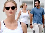 EXCLUSIVE TO INF.\nApril 4, 2016: Supermodel Kate Upton looks thinner than ever as she and boyfriend Justin Verlander take their dog for a walk in Miami, Florida. Justin is in town for Major League Baseball's opening day, where his Detroit Tigers will face the Miami Marlins.\nMandatory Credit: INFphoto.com Ref: infusmi-11/13