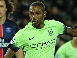Paris St German V Manchester City, Champions League, Knock out stage, 1st leg. Pic Andy Hooper/Daily Mail Fernandinho of Manchester City scores 2-2