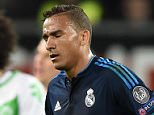 WOLFSBURG, GERMANY - APRIL 06: Danilo of Real Madrid shows his dejection after his team's 0-2 defeat in the UEFA Champions League Quarter Final First Leg match between VfL Wolfsburg and Real Madrid at Volkswagen Arena on April 6, 2016 in Wolfsburg, Germany.  (Photo by Stuart Franklin/Bongarts/Getty Images)