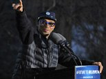 """Democratic Presidential hopeful Senator Bernie Sanders of Vermont's """"A FUTURE TO BELIEVE IN"""" South Bronx Campaign Rally, held in Saint Mary's Park in The Bronx, NY  Pictured: Spike Lee Ref: SPL1254757  310316   Picture by: Johns PKI/Splash News  Splash News and Pictures Los Angeles: 310-821-2666 New York: 212-619-2666 London: 870-934-2666 photodesk@splashnews.com"""