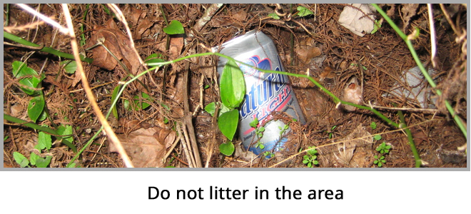 Don't Litter the Area
