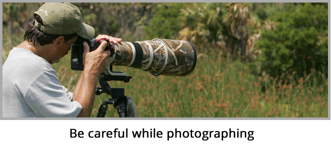 Be Careful While Photographing