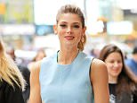 Ashley Greene takes a walk in Times Square, New York City, New York wearing a light blue outfit on April 7, 2016.  Pictured: Ashley Greene Ref: SPL1259189  070416   Picture by: Jackson Lee / Splash News  Splash News and Pictures Los Angeles: 310-821-2666 New York: 212-619-2666 London: 870-934-2666 photodesk@splashnews.com