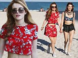 07.April.2016 ñ Miami ñ USA\n*** STRICTLY AVAILABLE FOR UK AND GERMANY USE ONLY ***\nMiami, FL - Bella Thorne plays on the beach with her sister Dani. The pair look cute in their beach attire. Bella is wearing a matching floral red set that shows off her toned tummy. \nBYLINE MUST READ : AKM-GSI-XPOSURE\n***UK CLIENTS - PICTURES CONTAINING CHILDREN PLEASE PIXELATE FACE PRIOR TO PUBLICATION ***\n*UK CLIENTS MUST CALL PRIOR TO TV OR ONLINE USAGE PLEASE TELEPHONE 0208 344 2007*\n