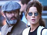 06.April.2016 - New York, NY Ò USA ***EXCLUSIVE ALLROUND PICTURES*** *** STRICTLY AVAILABLE FOR UK AND GERMANY USE ONLY *** Kate Beckinsale and Michael Sheen are spotted together in NYC with their daughter Lily Mo Sheen. Michael is wearing an ankle brace on his right foot for an injury he has not spoken about. Kate is wearing skinny jeans and a white coat paired with boots. The actress looks glam with her hair worn up with reflective circle shades. Daughter Lily Mo keeps it casual in leggings and a coat paired with Jeffrey Campbell boots.  BYLINE MUST READ : AKM-GSI-XPOSURE ***UK CLIENTS - PICTURES CONTAINING CHILDREN PLEASE PIXELATE FACE PRIOR TO PUBLICATION *** *UK CLIENTS MUST CALL PRIOR TO TV OR ONLINE USAGE PLEASE TELEPHONE 0208 344 2007*