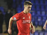 BIRKENHEAD, ENGLAND - MARCH 11:  (THE SUN OUT, THE SUN ON SUNDAY OUT) Cameron Brannagan of Liverpool and Andreas Pereira of Manchester United in action during the Liverpool v Manchester United U21 Premier League game at Prenton Park on March 11, 2016 in Birkenhead, England.  (Photo by Nick Taylor/Liverpool FC via Getty Images)