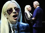 LAS VEGAS, NEVADA - APRIL 07:  Recording artist Lady Gaga (L) is greeted by U.S. Vice President Joe Biden after she performed for students as part of the national It's On Us Week of Action at the Cox Pavilion at UNLV on April 7, 2016 in Las Vegas, Nevada. The It's On Us initiative was launched by the White House in 2014 to raise awareness about the importance of preventing sexual assaults on college campuses and supporting survivors of sexual assault.  (Photo by Ethan Miller/Getty Images)