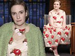 LATE NIGHT WITH SETH MEYERS -- Episode 352 -- Pictured: Actress Lena Dunham during an interview on April 6, 2016 -- (Photo by: Lloyd Bishop/NBC/NBCU Photo Bank via Getty Images)