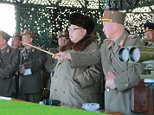 North Korean leader Kim Jong Un watches landing and anti-landing exercises being carried out by the Korean People's Army (KPA) at an unknown location, in this undated photo released by North Korea's Korean Central News Agency (KCNA) in Pyongyang on March 20, 2016.        REUTERS/KCNA    ATTENTION EDITORS - THIS PICTURE WAS PROVIDED BY A THIRD PARTY. REUTERS IS UNABLE TO INDEPENDENTLY VERIFY THE AUTHENTICITY, CONTENT, LOCATION OR DATE OF THIS IMAGE. FOR EDITORIAL USE ONLY. NOT FOR SALE FOR MARKETING OR ADVERTISING CAMPAIGNS. NO THIRD PARTY SALES. NOT FOR USE BY REUTERS THIRD PARTY DISTRIBUTORS. SOUTH KOREA OUT. NO COMMERCIAL OR EDITORIAL SALES IN SOUTH KOREA. THIS PICTURE IS DISTRIBUTED EXACTLY AS RECEIVED BY REUTERS, AS A SERVICE TO CLIENTS.