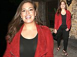 West Hollywood, CA - Plus-sized model, Ashley Graham, strikes a pose at Snoop Dogg's Vogue Denim dinner party held at El Compadre Restaurant in Hollywood. AKM-GSI         April 6, 2016 To License These Photos, Please Contact : Steve Ginsburg (310) 505-8447 (323) 423-9397 steve@akmgsi.com sales@akmgsi.com or Maria Buda (917) 242-1505 mbuda@akmgsi.com ginsburgspalyinc@gmail.com