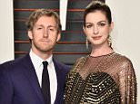 BEVERLY HILLS, CA - FEBRUARY 28:  Actors Adam Shulman (L) and Anne Hathaway attend the 2016 Vanity Fair Oscar Party Hosted By Graydon Carter at the Wallis Annenberg Center for the Performing Arts on February 28, 2016 in Beverly Hills, California.  (Photo by Pascal Le Segretain/Getty Images)