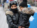 Kim Kardashian takes North skiing in Colorado as they film Keeping up with the Kardashians.  Pictured: Kim Kardashian and North Ref: SPL1257476  050416   Picture by: Splash News  Splash News and Pictures Los Angeles: 310-821-2666 New York: 212-619-2666 London: 870-934-2666 photodesk@splashnews.com