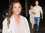 7 Apr 2016 - London - Uk  Dan Osbourne and Jacqueline Jossa seen arriving at Kensington Roof Gardens in London for James Inghams Jog on Cancer Bash.    BYLINE MUST READ : XPOSUREPHOTOS.COM  ***UK CLIENTS - PICTURES CONTAINING CHILDREN PLEASE PIXELATE FACE PRIOR TO PUBLICATION ***  **UK CLIENTS MUST CALL PRIOR TO TV OR ONLINE USAGE PLEASE TELEPHONE   44 208 344 2007 **
