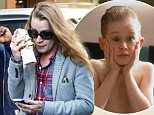 30.March.2016 - New York - USA *** STRICTLY AVAILABLE FOR UK AND GERMANY USE ONLY *** New York, NY - Macaulay Culkin tries to avoid photographers as he is walking through the East Village in a grey Suit Coat and worn grey jeans. BYLINE MUST READ : AKM-GSI-XPOSURE ***UK CLIENTS - PICTURES CONTAINING CHILDREN PLEASE PIXELATE FACE PRIOR TO PUBLICATION *** *UK CLIENTS MUST CALL PRIOR TO TV OR ONLINE USAGE PLEASE TELEPHONE 0208 344 2007*