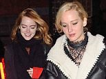 23.NOVEMBER.2015 - NEW YORK - USA....ADELE, JENNIFER LAWRENCE AND EMMA STONE OUT FOR DINNER AT COSME RESTAURANT IN NYC....BYLINE MUST READ : XPOSUREPHOTOS.COM....***UK CLIENTS - PICTURES CONTAINING CHILDREN PLEASE PIXELATE FACE PRIOR TO PUBLICATION ***....**UK CLIENTS MUST CALL PRIOR TO TV OR ONLINE USAGE PLEASE TELEPHONE  44 208 344 2007 ***