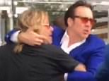 07.April.2016 - Las Vegas - USA **PREMIUM EXCLUSIVE* **MUST CALL FOR PRICING** *** STRICTLY AVAILABLE FOR UK AND GERMANY USE ONLY *** Vince Neil and Nicolas Cage got in a huge physical fight in Las Vegas after Vince allegedly attacked a woman in a hotel ... and Vince is now the subject of a criminal investigation. Law enforcement sources tell us the fight went down at around 5 PM at Aria Hotel on the Vegas strip. We're told Nic and Vince were inside when a woman came up to Nic and asked for an autograph. Our sources say Vince allegedly got behind the woman, grabbed her by the hair and pulled her to the ground. The video we got shows the end of a fight between Vince and Nic. Our sources tell us Nic was trying to restrain Vince and calm him down, taking him outside the hotel and into a car. Nic is screaming at Vince, imploring him to calm down. Cops tell us Vince was cited for battery and never taken to the station. BYLINE MUST READ : TMZ/AKM-GSI ***UK CLIENTS - PICTURES CONTAINING CHIL