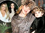 Khloe Kardashian\nCredit: www.KhloeWithAK.com\n#TBT: Baby Kendall, Braces and Bad Outfits (image attached)\nUm, how come no one told me braces + all-over animal print wasn't a good look?! Leopard overload!!! But, how cute is Kendall?\n