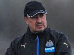 NEWCASTLE UPON TYNE, ENGLAND -  APRIL 08: Newcastle Manager Rafael Benitez gestures during the Newcastle United Training session at The Newcastle United Training Centre on April 8, 2016 in Newcastle upon Tyne, England. (Photo by Serena Taylor/Newcastle United via Getty Images)
