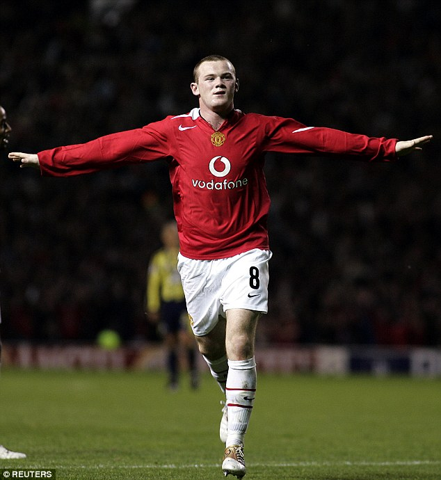 Glory, glory: Wayne Rooney scored a hat-trick on his United debut in Champions League against Fenerbahce
