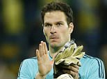 Chelsea's Asmir Begovic applauds the fans after UEFA Champions League Group Stage at Sammy Ofer Stadium, Haifa, Israel.   Livepic  EDITORIAL USE ONLY.