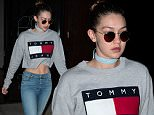 EXCLUSIVE: Gigi Hadid spotted wearing Tommy Hilfiger while out in New York City, New York.\n\nPictured: Gigi Hadid\nRef: SPL1259626  080416   EXCLUSIVE\nPicture by: NIGNY / Splash News\n\nSplash News and Pictures\nLos Angeles: 310-821-2666\nNew York: 212-619-2666\nLondon: 870-934-2666\nphotodesk@splashnews.com\n