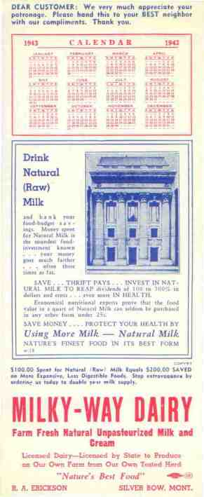 Milky-Way Dairy Advertisement