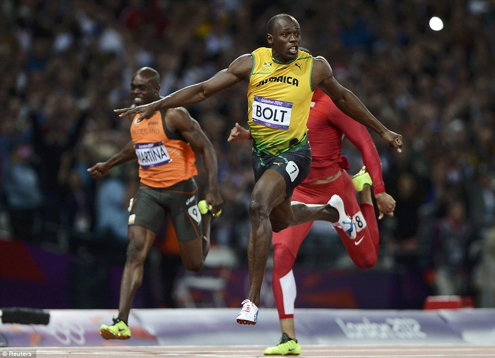 Lightning Bolt: The Jamaican set a new Olympic record after winning the 100m in a time of 9.63 seconds