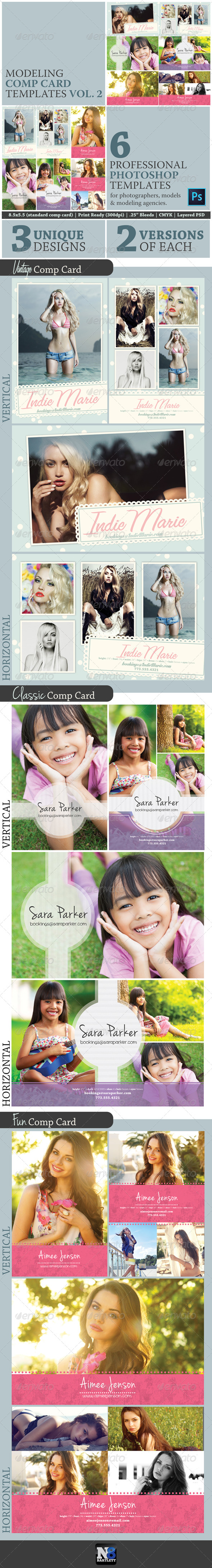 Model Comp Card Template Kit Vol 2
