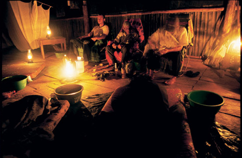 Photo: An ayahuasca ceremony in Peru