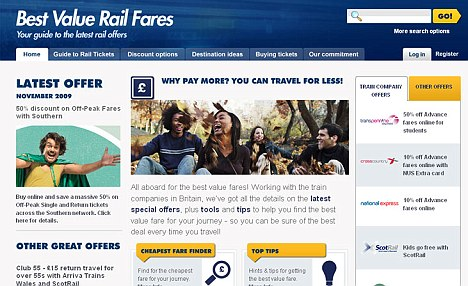 Helping hand: The new Best Value Rail Fares section