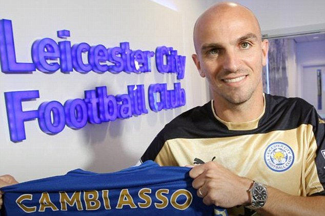 Done deal: Former Inter Milan midfielder Esteban Cambiasso has signed a contract with Leicester City