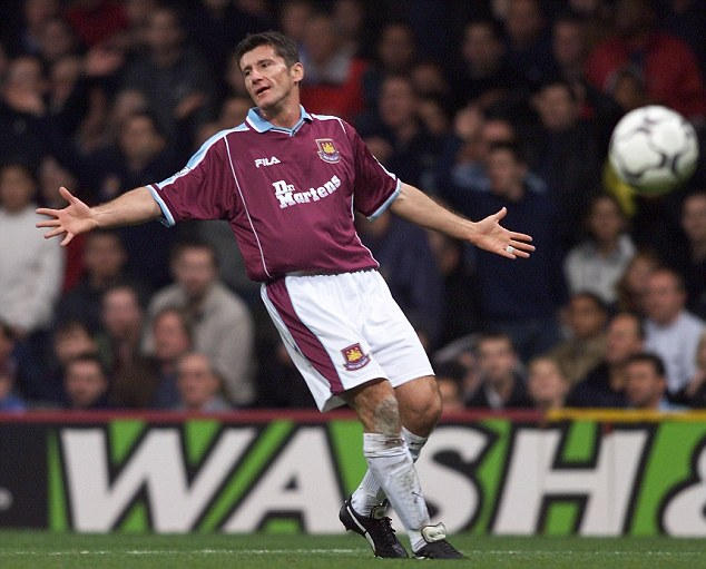 Trouble in the east: Croatian striker Davor Suker never truly settled at West Ham United