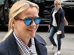 Actress Reese Witherspoon wearing jeans and a blue blazer, arrives at the Greenwich Hotel in New York City, New York.\n\nPictured: Reese Witherspoon\nRef: SPL1260509  090416  \nPicture by: Christopher Peterson/Splash News\n\nSplash News and Pictures\nLos Angeles: 310-821-2666\nNew York: 212-619-2666\nLondon: 870-934-2666\nphotodesk@splashnews.com\n